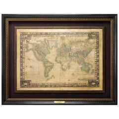 1844 Map of the World on Mercator's Projection by Atwood and Ensign, Antique Map