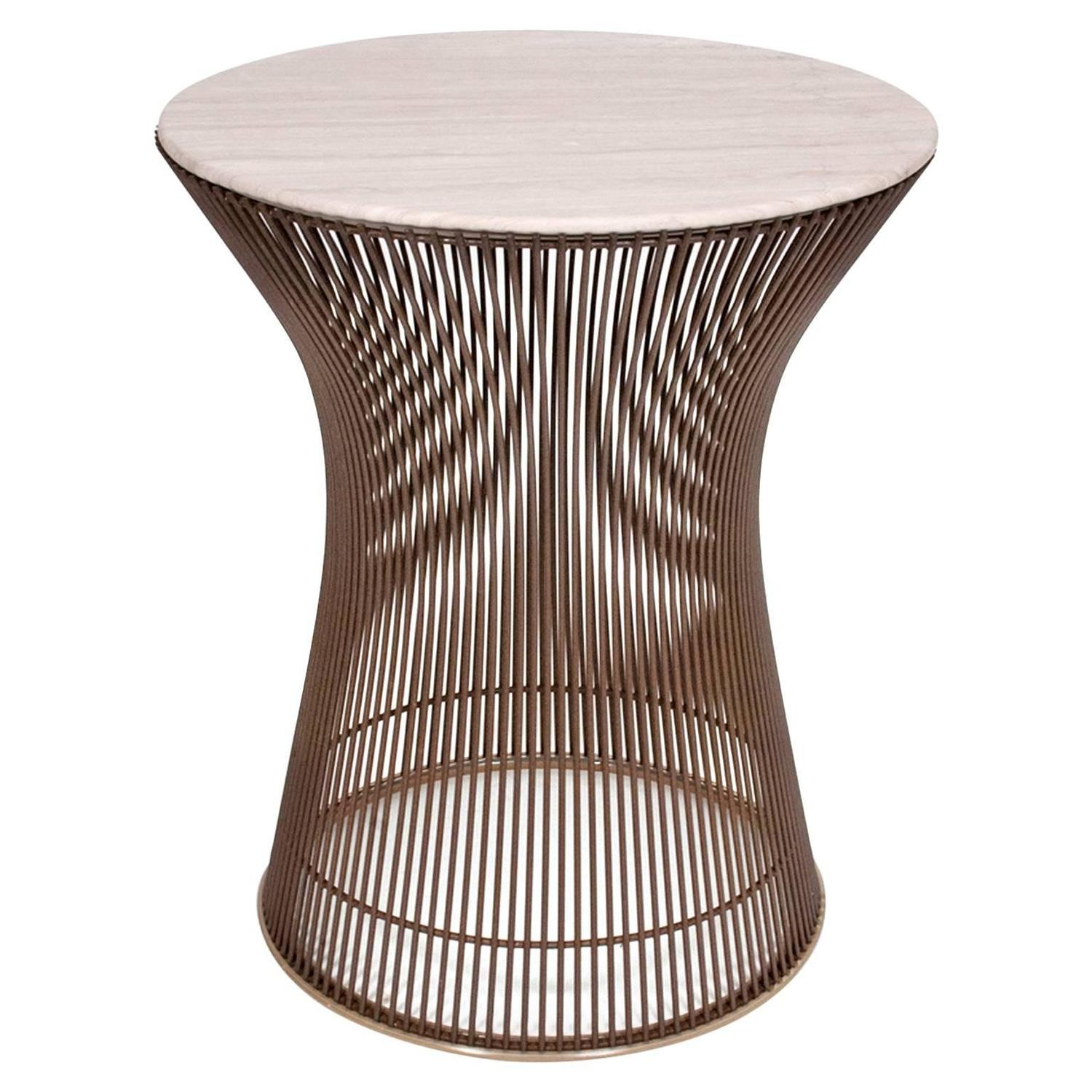 Warren platner bronze finished base side table at 1stdibs for Side table base