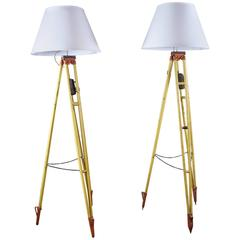 Pair Surveyors Lamps