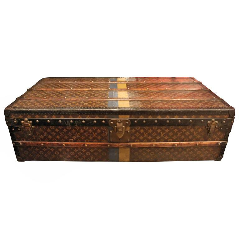 Lv Trunk Coffee Table: Vintage Louis Vuitton Steamer Trunk At 1stdibs