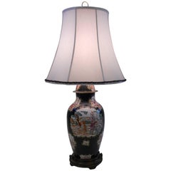 19th Century Chinese Export Vase as a Lamp