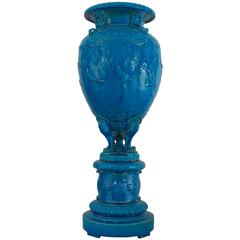 Monumental 19th Century French Mounted Sevres Porcelain Vase by Joseph Cheret