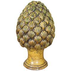 Italian Pottery Pinecone Finial