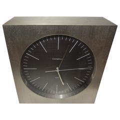 Tiffany Mid-Century Steel Case Desk Clock