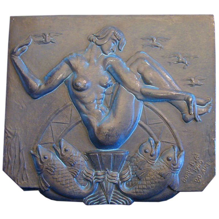 """The Birth of Venus""  Important Art Deco Panel"