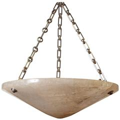 20th Century Rock Crystal Hanging Bowl Chandelier