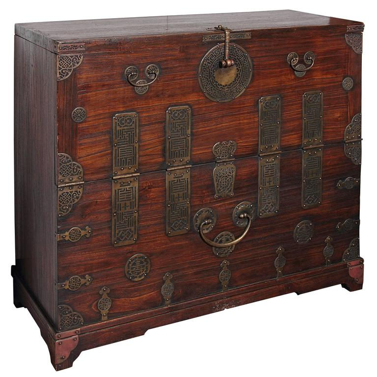 Early 20th Century Korean Chest, Retro-Fitted for Television For Sale