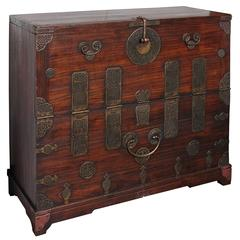 Early 20th Century Korean Chest, Retro-Fitted for Television