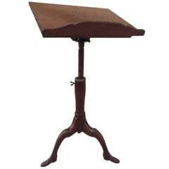 Georgian Mahogany Adjustable Dictionary / Music Stand with Carved Shoe Feet