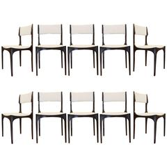 Ten Italian Chairs Designed by Giuseppe Gibelli for Sormani, 1960s