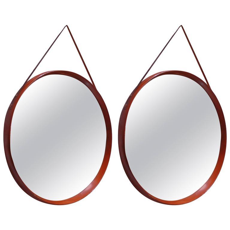 Italian Pair of Round Mirrors