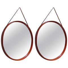 Italian Pair of Round Mirrors