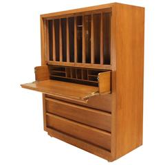 Large Robsjohn-Gibbings Dresser  Secretary w Bookcase