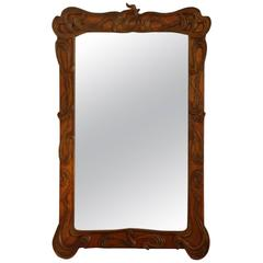 Impressive Giltwood Art Nouveau Mirror