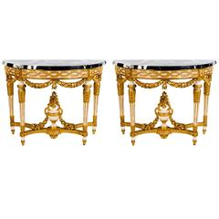 Pair of  18' century Nord Italian Console Tables