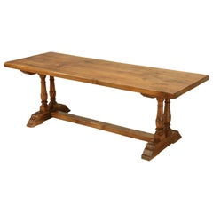 Antique French Farm Table Found in a French Monastery