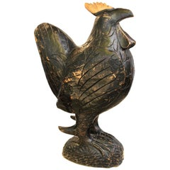 Jamaican Carved Wooden Rooster