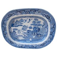 Early 19th Century English Blue Willow Platter
