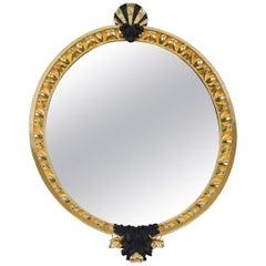 George II Gilt and Ebonized Looking Glass Mirror after William Kent, circa 1740