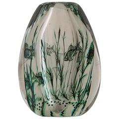 Vintage Swedish Edward Hald Fish Vase