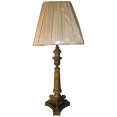 19th Century, French Bronze Lamp
