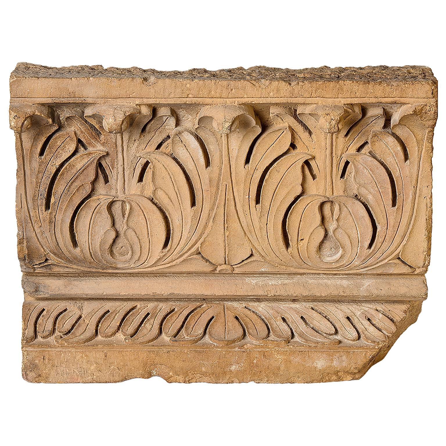 Antique Architectural Mogul Stone Panel