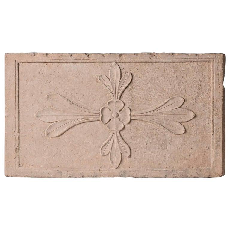 Antique Cast  Architectural  Mogul Stone Panel -  For Sale