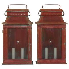 Pair of Copper Wall Lanterns