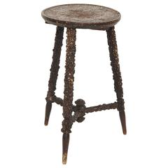 A Late 19th Century English Rusticated Stool