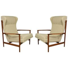 Pair of Ib Kofod-Larsen Wingback Lounge Chairs