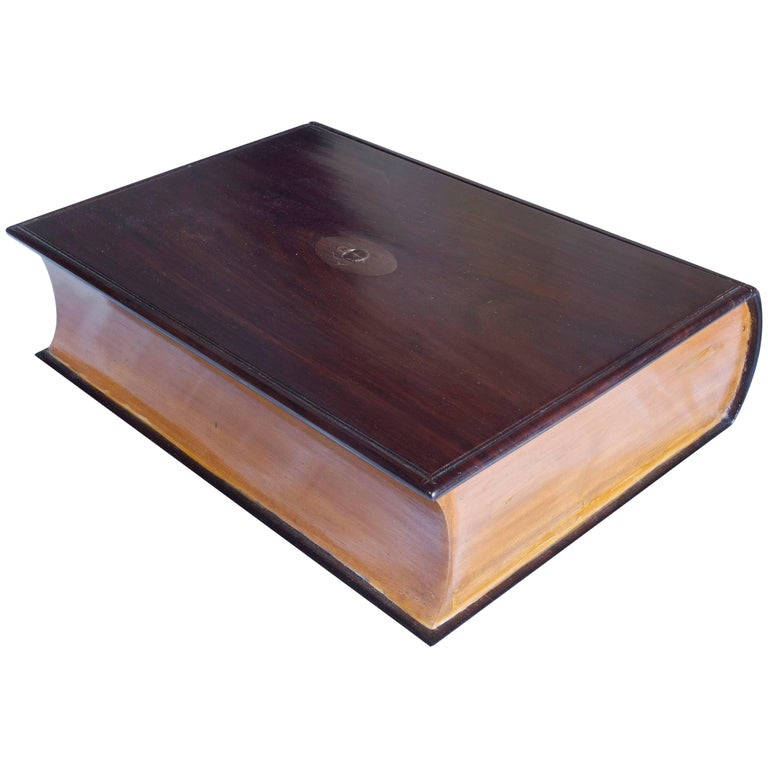 Satinwood and Rosewood Book Box For Sale