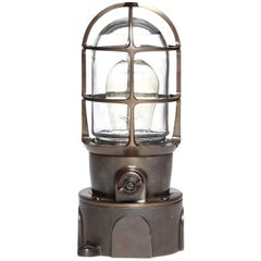 Industrial Bronze Caged Light by Russell & Stoll Co