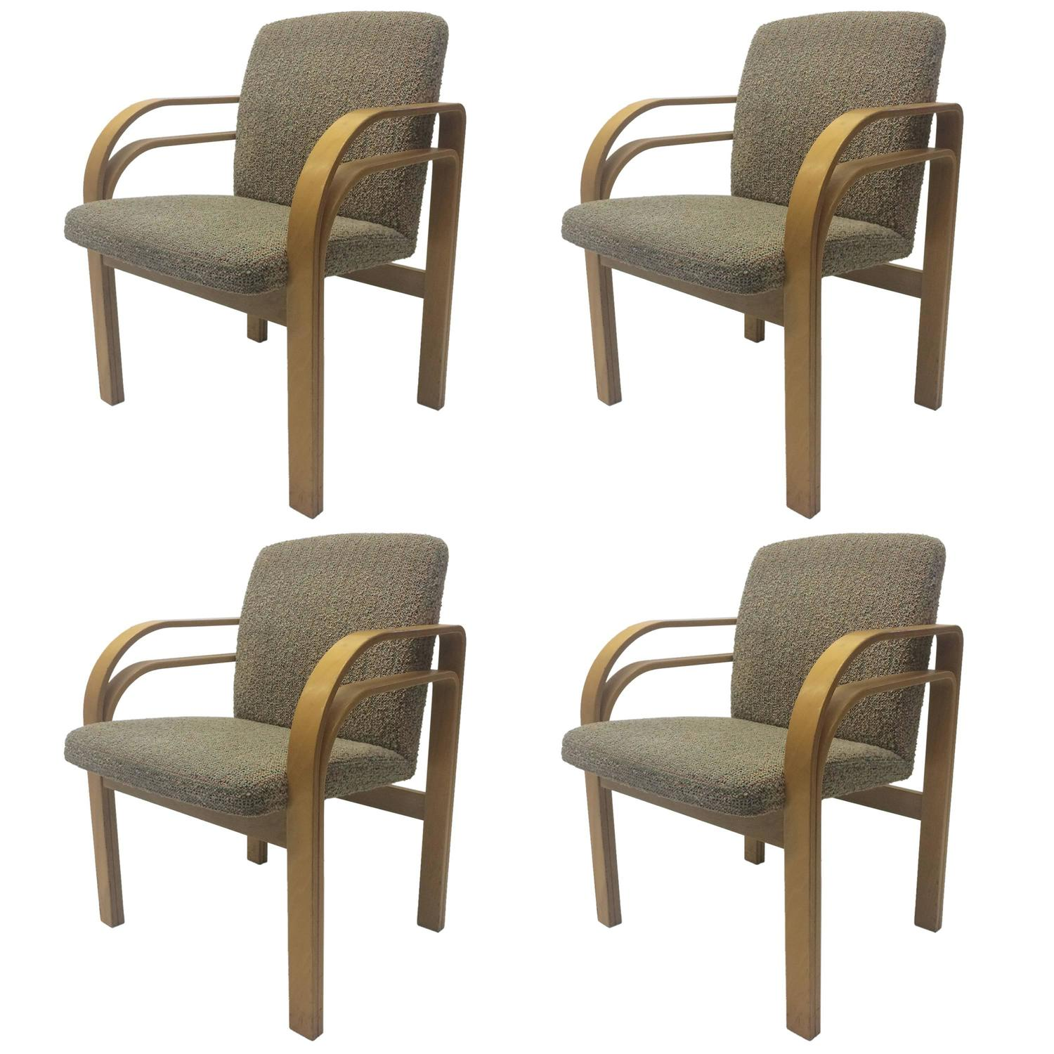 Four bentwood chairs in the manner of alvar aalto for sale at 1stdibs