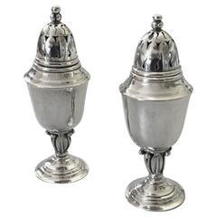 Georg Jensen Sterling Silver Pair of Salt and Pepper Shaker