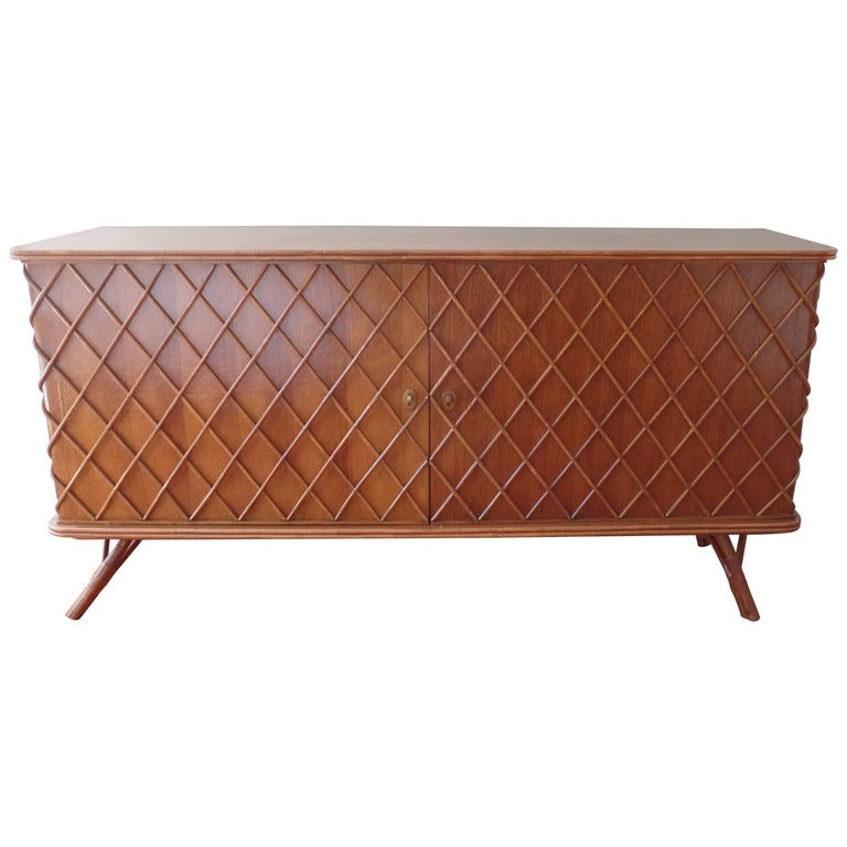 "French Mid-Century Modern ""Croissilon"" Sideboard / Credenza by Jean Royere, 1940 For Sale"