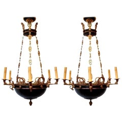 Pair of Empire Style Chandeliers