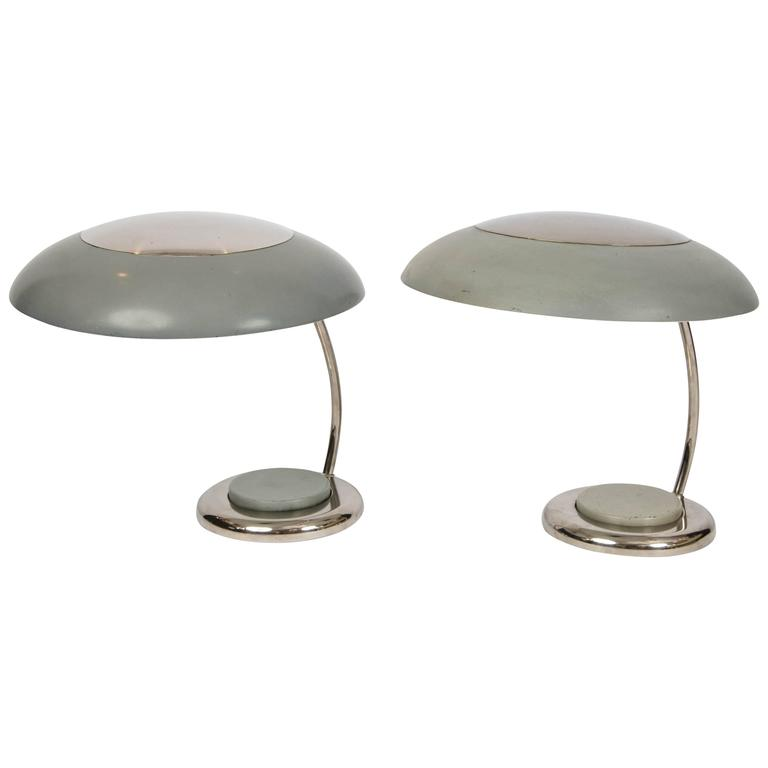 Pair of Bauhaus Style Desk of Table Lamps