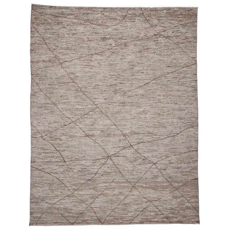 Contemporary Moroccan Area Rug With Modern Style In Warm