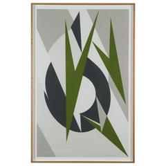 Framed Lithograph by Krasner