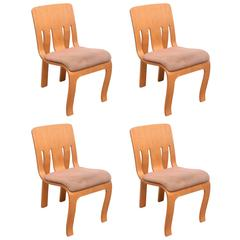 Rare Set of Thonet Bent Plywood Chairs