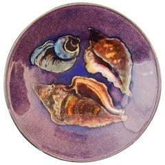 """Conch Shells,"" Midcentury Footed Enamel Bowl by Drerup"