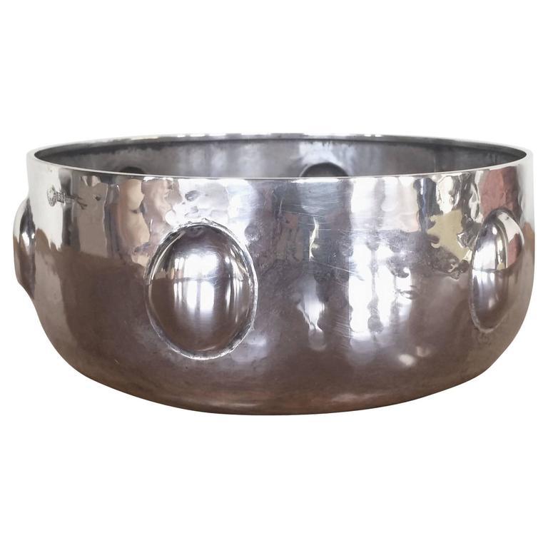 An Elegant Italian Sterling  Silver Bowl by Brandimarte