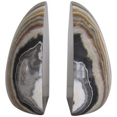 Vintage Modern Marble Bookends, Italy