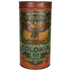 Eagle Coffee Tin Box early 20th Century