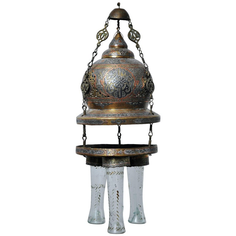 Antique Moroccan Oil Lantern For Sale