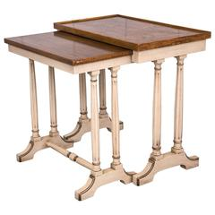 Mid-Century Drexel Provincial Style Nesting Tables