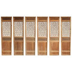 Set of Six Chinese Style Screens