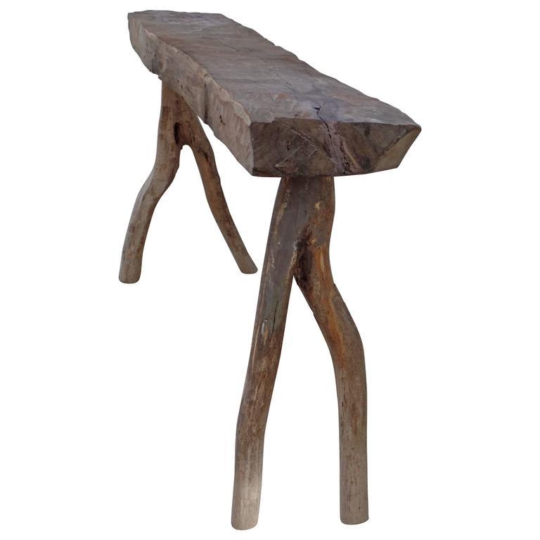 Unique French Mid-Century Modern Craftsman Bench