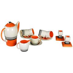 English Art Deco Coffee Set by Susie Cooper