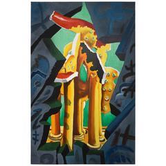 "Cesar Bailleux, His Imagination ""The Tempel"" 1989"